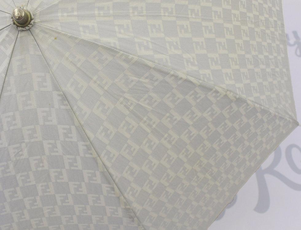 Vintage Fendi FF Zucca Logo Print Umbrella