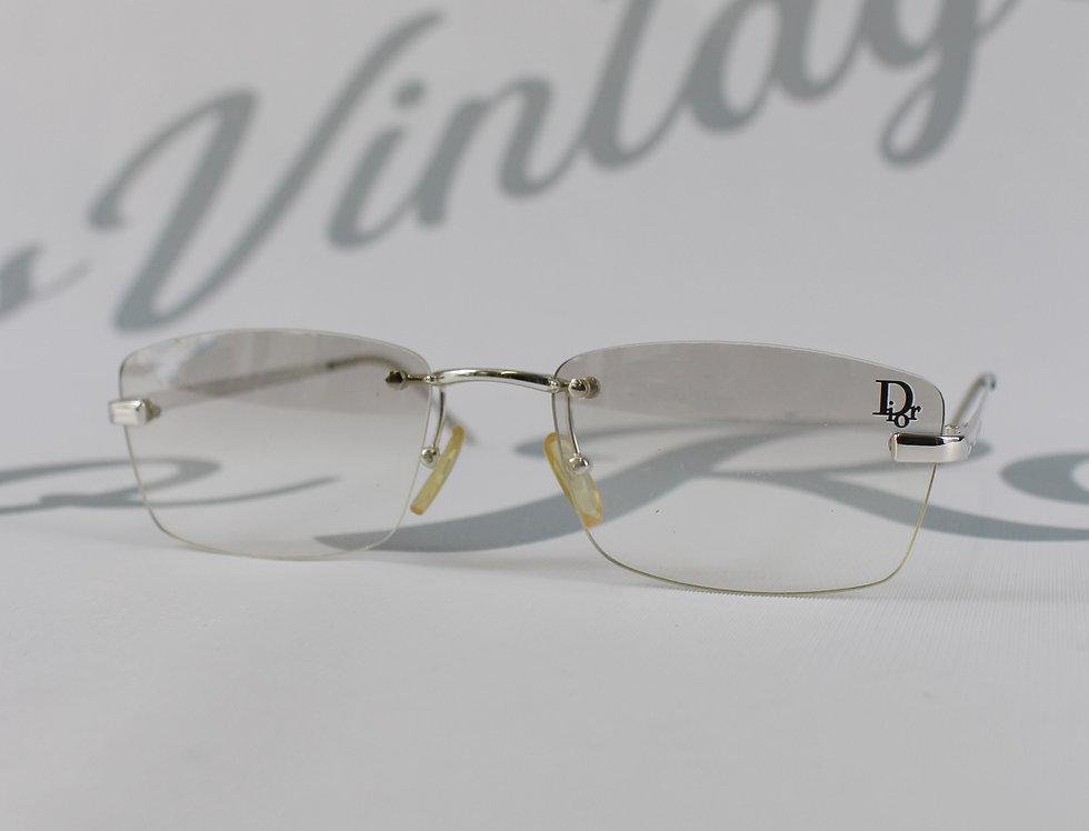 Clear Christian Dior Logo Lens Clear Sunglasses