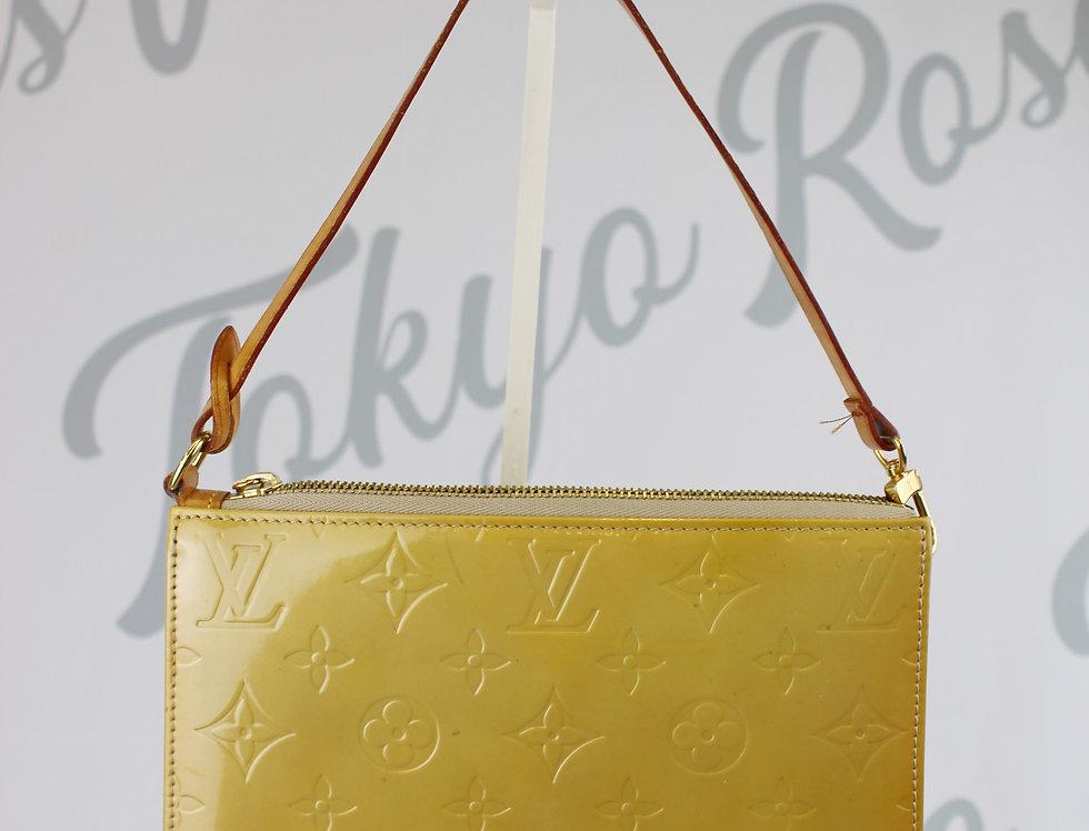Louis Vuitton Vernis Mini Bag Yellow Handbag Pochette
