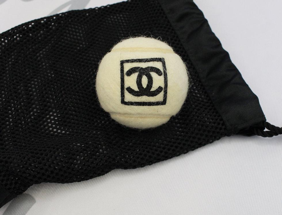 Vintage Chanel White Logo Tennis Ball