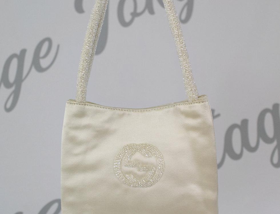 Gucci Champagne Satin Handbag Mini