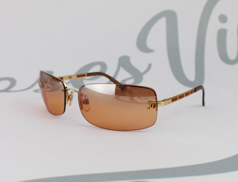 Chanel CC Side Brown Sunglasses Vintage Glasses