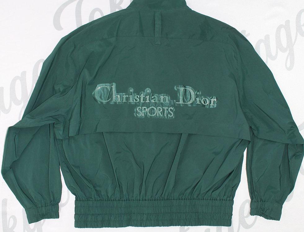 Christian Dior Sports Green Windbreaker Jacket Nylon