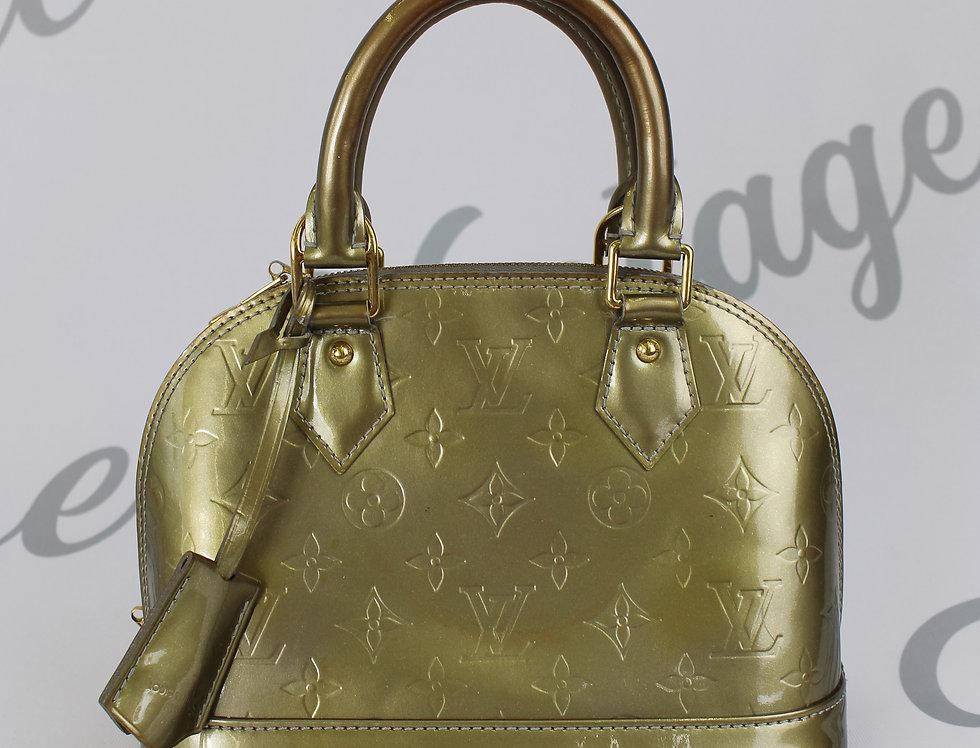Louis Vuitton Green Vernis Mini Bag