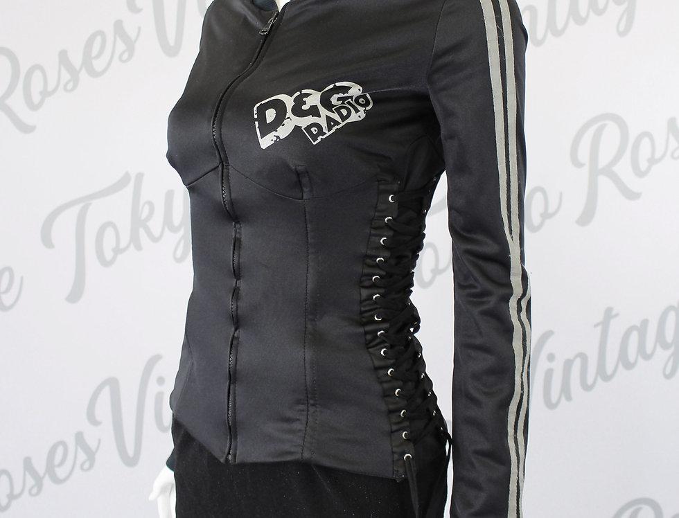 Dolce & Gabbana Black Corset Lace Up Jacket