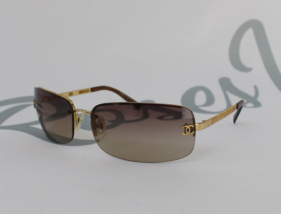 Chanel CC Side Brown Sunglasses Vintage Glasses