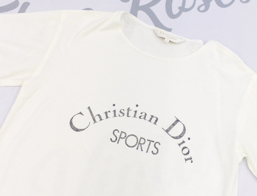 Christian Dior Sports White Short Sleeve T Shirt