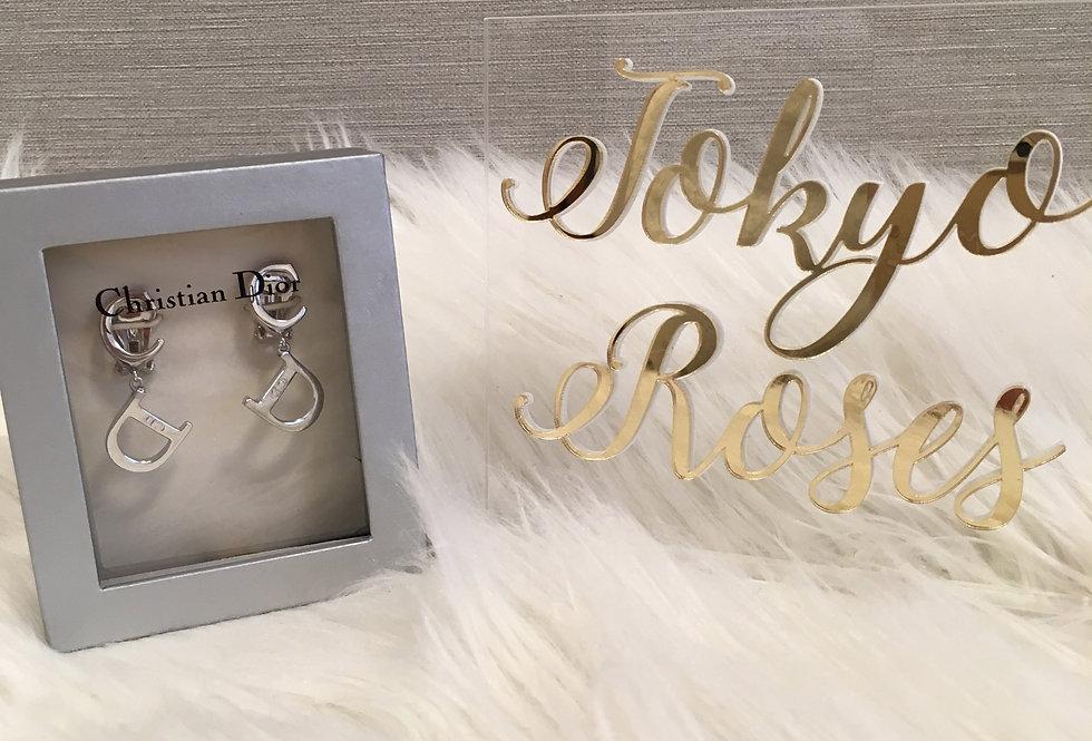 Christian Dior C D Letter Earrings