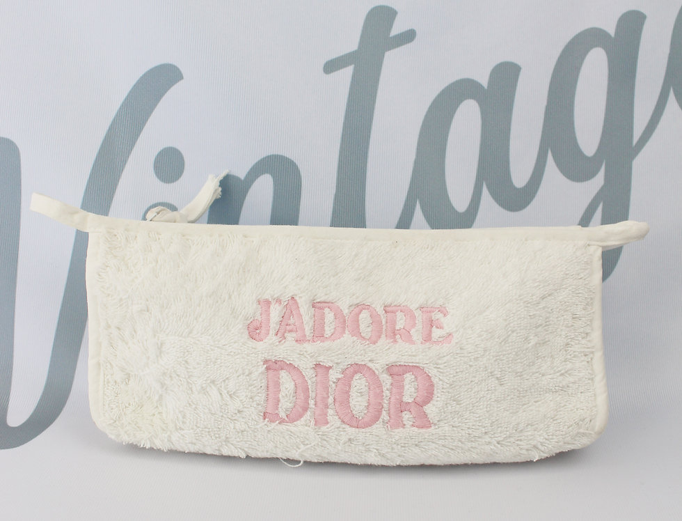 Christian Dior Terry Towel J'adore Dior Pouch