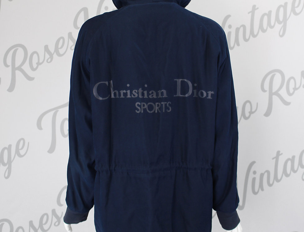Christian Dior Sports Navy Zip Up Hooded Jacket