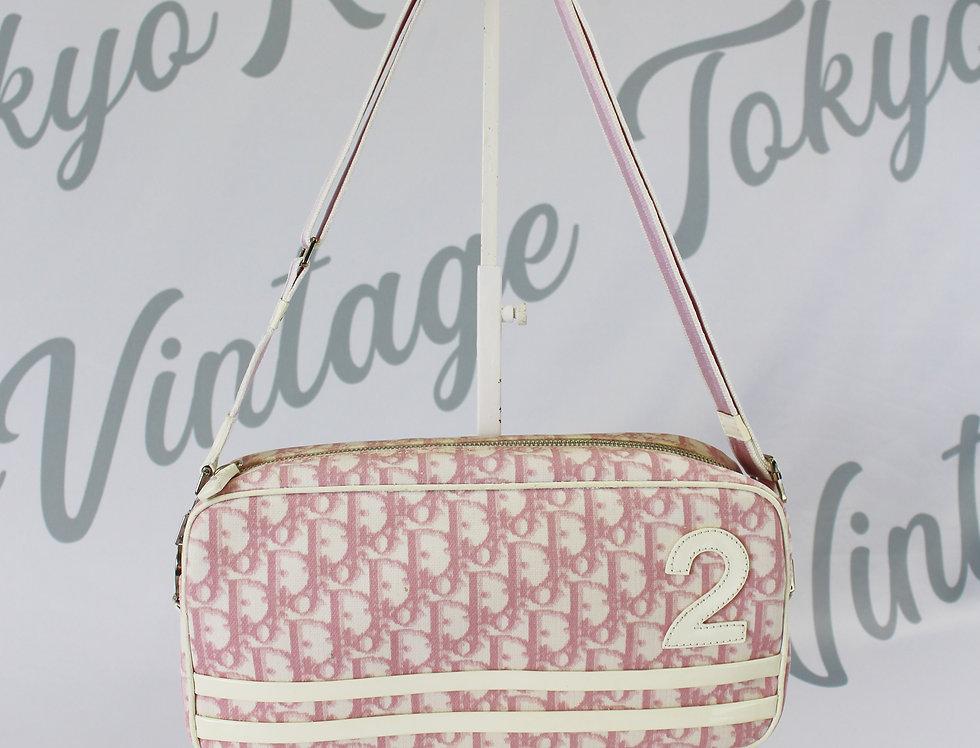 Christian Dior Pink Coated Canvas Crossbody Bag Trotter Logo Monogram 2