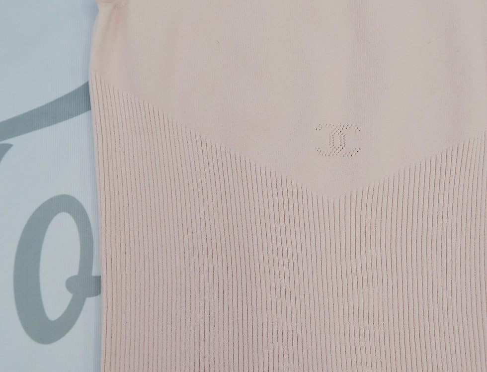 Chanel Pink CC Logo Chest Tank Top Stretch