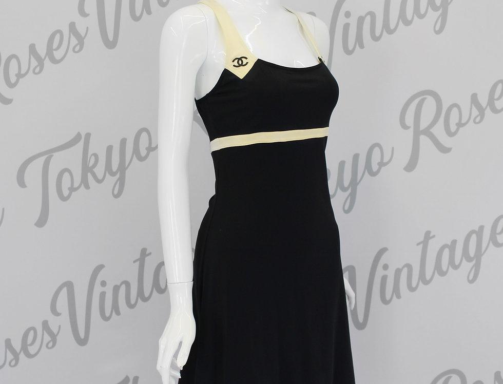 Chanel Black CC Logo Dress