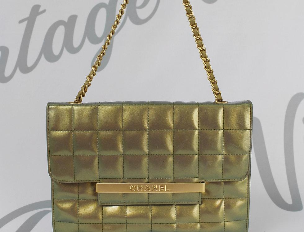 Green Chanel Front Flap Chain Handbag