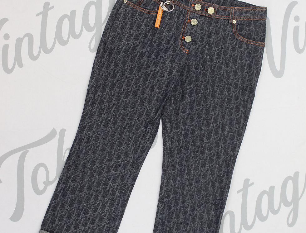 Christian Dior Flight Collection Pants Cropped Trotter Diorissimo Logo Print