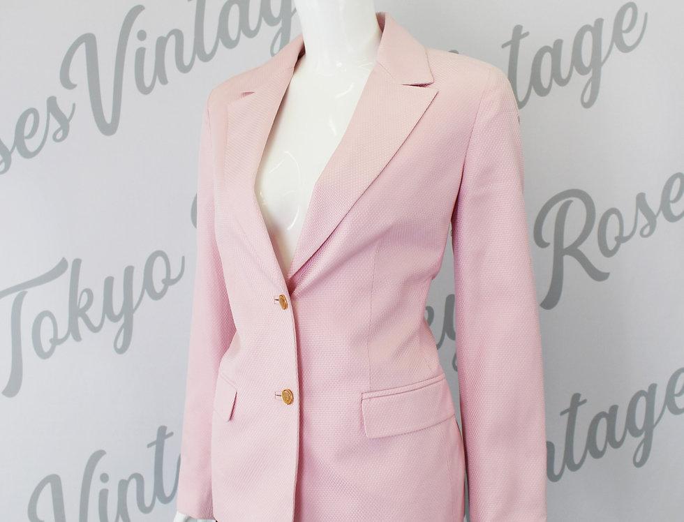 Pink Gianni Versace Medusa Head Suit Jacket