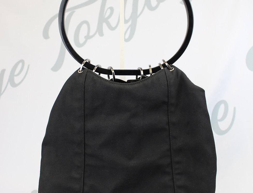 Black Gucci Ring Handle Handbag