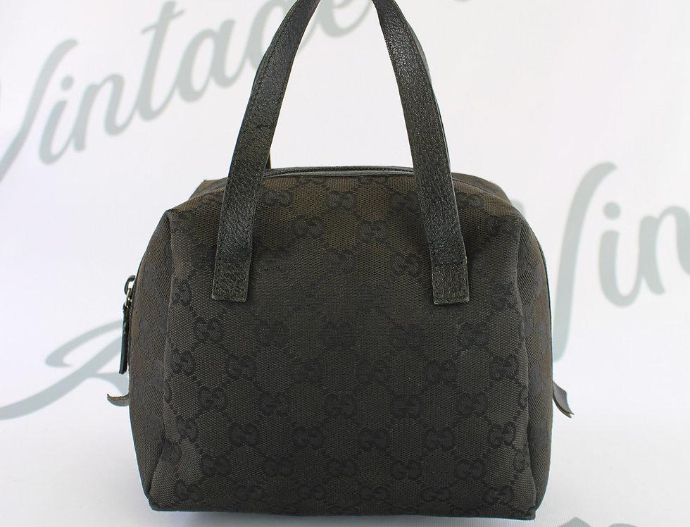 Vintage Gucci Black GG Canvas Small Mini Bag