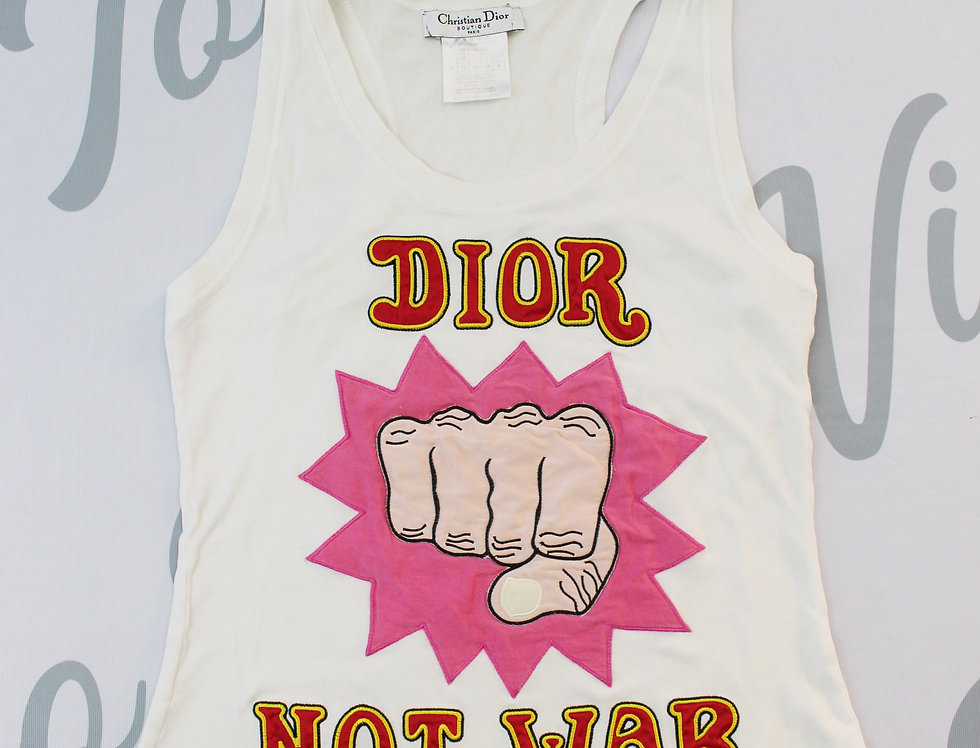 "Christian Dior ""Dior not war"" Tank top"