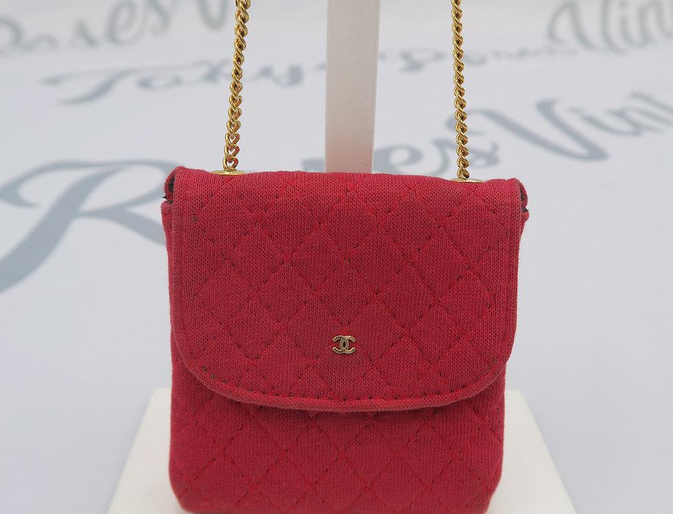 Chanel Micro Mini Chain Bag - Red