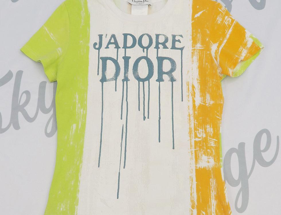 Christian Dior Rare J'adore Dior Logo Print Top Shirt Jadore