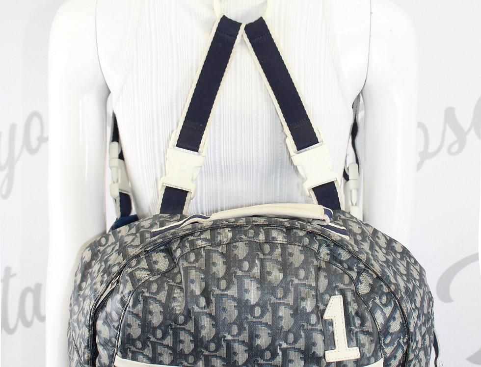 Vintage Dior Blue Logo Monogram Backpack & Fannypack Bag