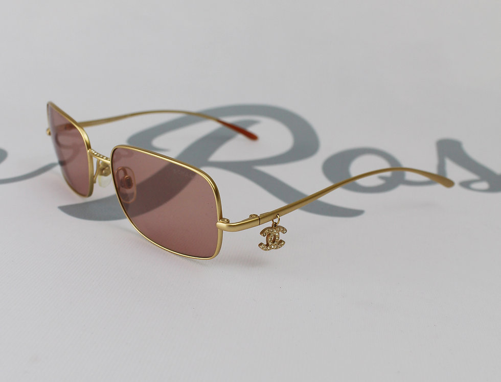 Pink Lens Chanel CC Charm Glasses