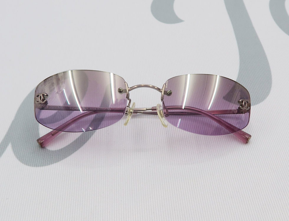 Chanel Purple Tinted Sunglasses Vintage Glasses