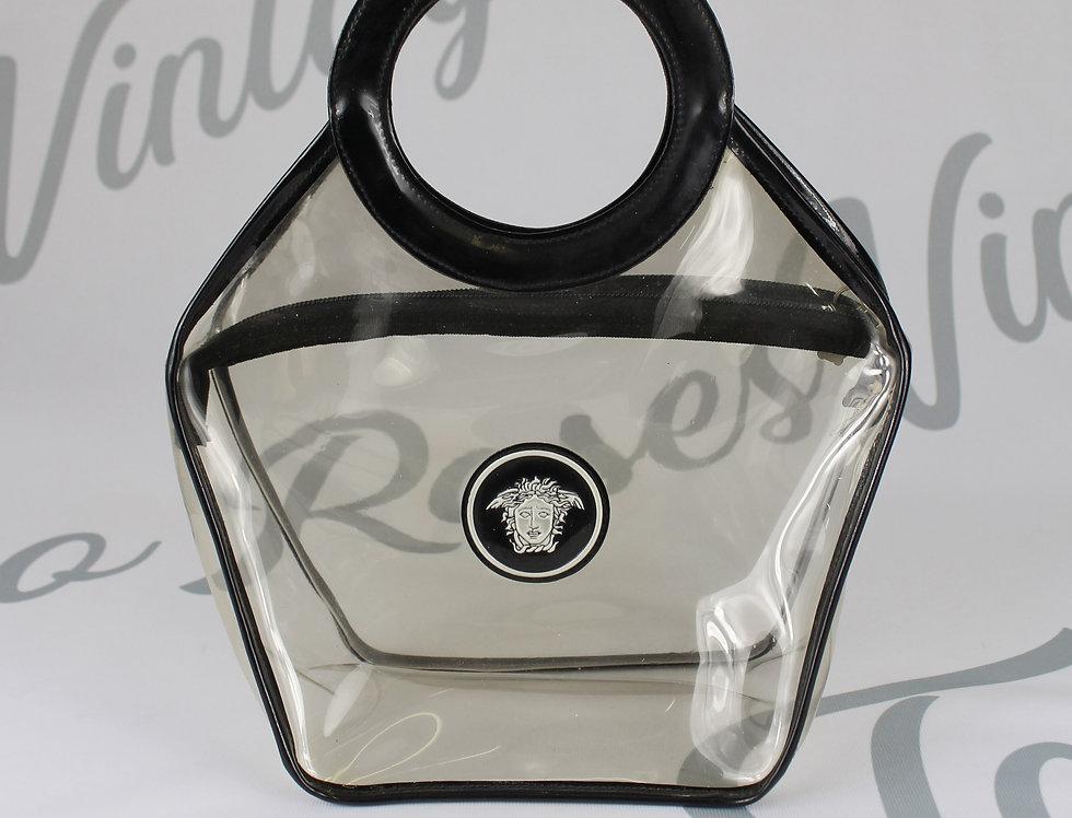 Versace Transparent Handbag Black Logo