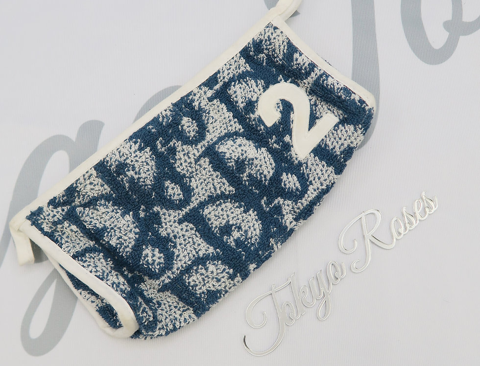 Christian Dior Terry Towel Trotter Pouch Blue