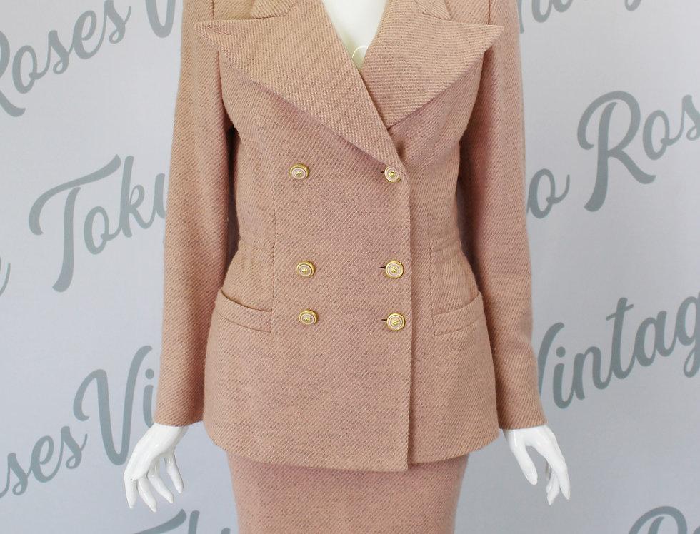 Versus Versace Suit Jacket & Skirt Set Neutral Pink