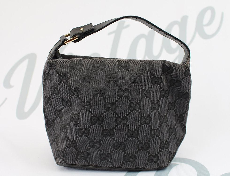 Gucci Black GG Canvas Small Mini Bag Red