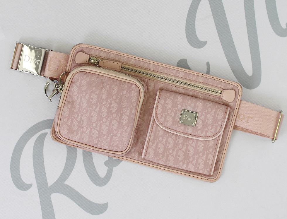 Christian Dior Pink Logo Monogram Fannypack Belt Bag
