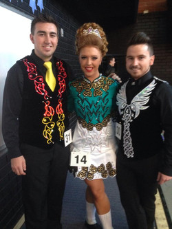 Emilie with Kain & James side stage at the 2014 McAleer Feis.jpg