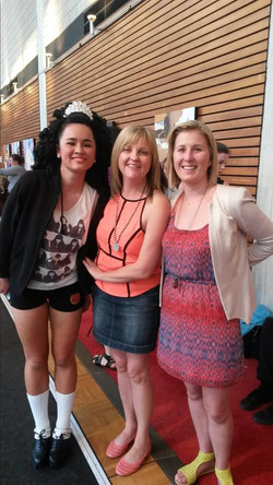 Clare with Miss Eileen & Miss Audrey after her warmup session.jpg