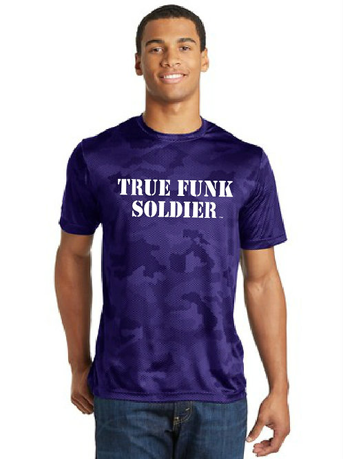 """True Funk Soldier"" Camo Jersey T-Shirt"