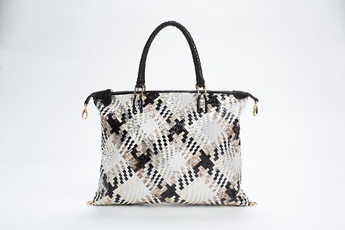 Margaret Python Hand Carry in Woven