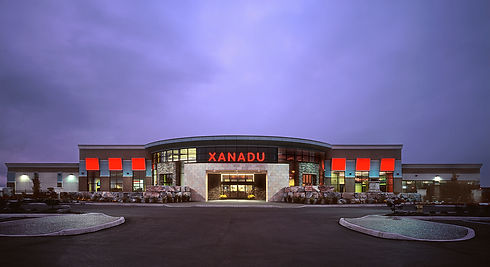 Xanadu exterior night view straight on v
