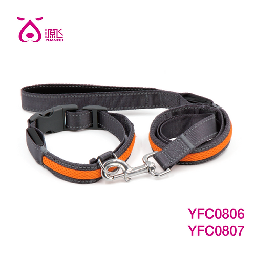 LED Adjustable Mesh Collar & LED Pad Mesh Leash