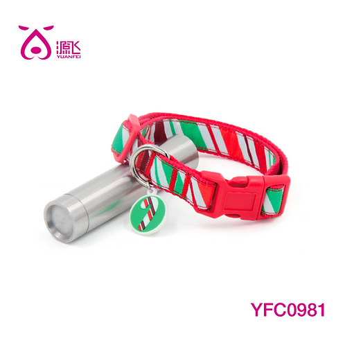 Xmas Candy Stripe Collar