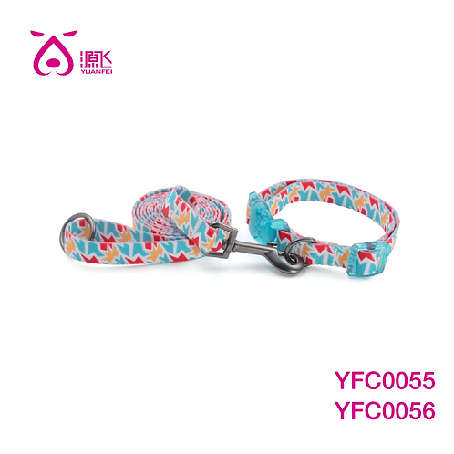 Fractured Teal Dye Sub Collar&Leash