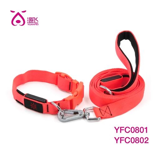 Neon Adjustable LED Collar & Led Pad Leash