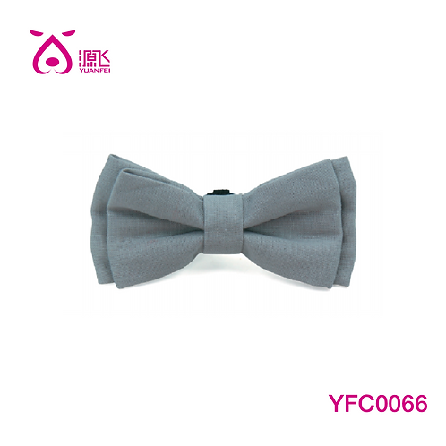 Gray Double Layer Bowtie 4""