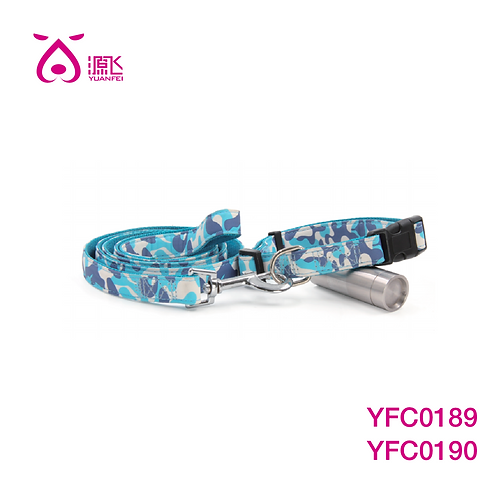 Blue Camo Collar&Leash