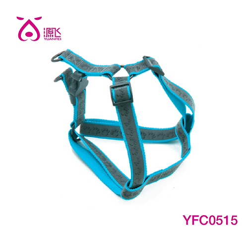 Highly Reflective Paw Harness Blue