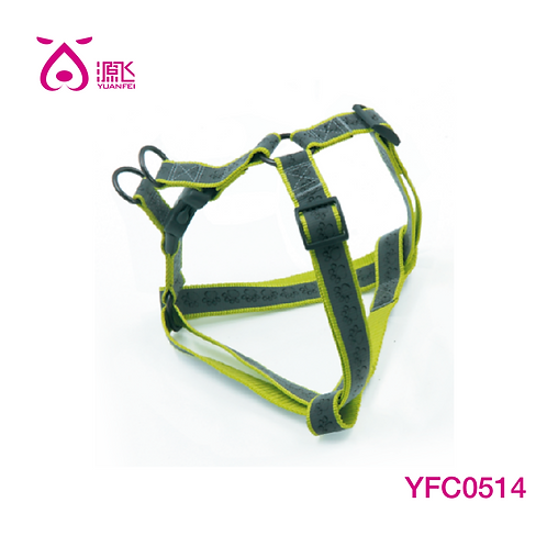 Highly Reflective Paw Harness Green