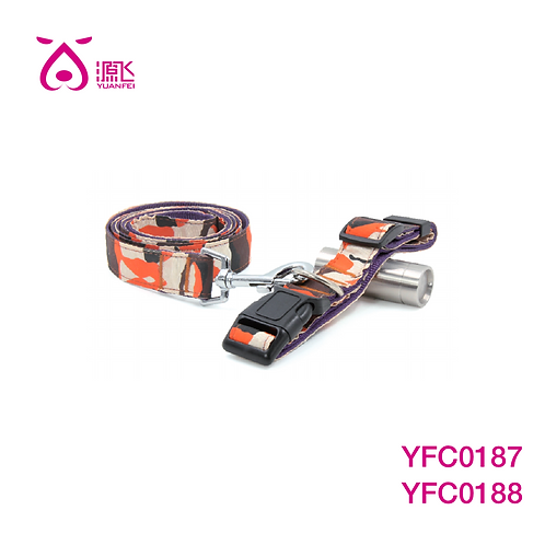 Purple/Orange Camo Collar&Leash