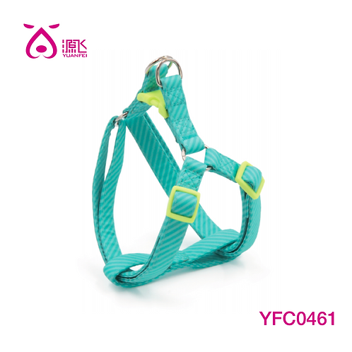 Teal Fabric Covered Stripe Harness