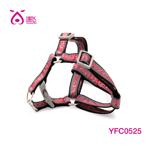 Colorful Yarns Reflective Harness Red
