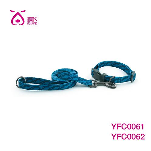 Jagged Blue Dye Sub Collar&Leash